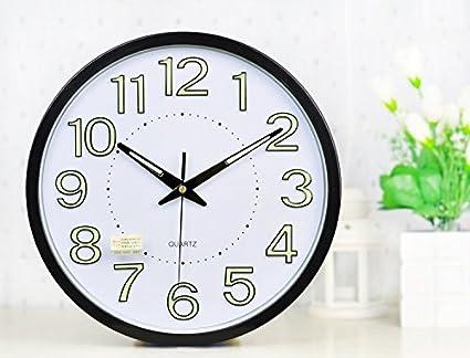 nice design quiet wall clock. LUMINOVA metal quiet wall clock The living room bedroom luminous Wall  hanging Watch 12 Amazon com