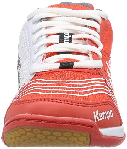 de Unisex Mehrfarbig Attack Fire Weiß Balonmano Grau Adulto Kempa Multicolor Red Goma de Statement Zapatillas CpZwTxqw