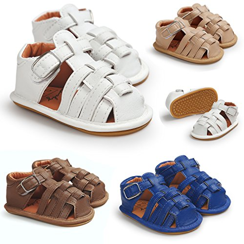 Pictures of Meckior Summer Baby Sandals Infant Boys Non- 1