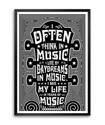 Music Quotes   Lab No 4 I Often Think In Music Albert Einstein Music Quotes Framed