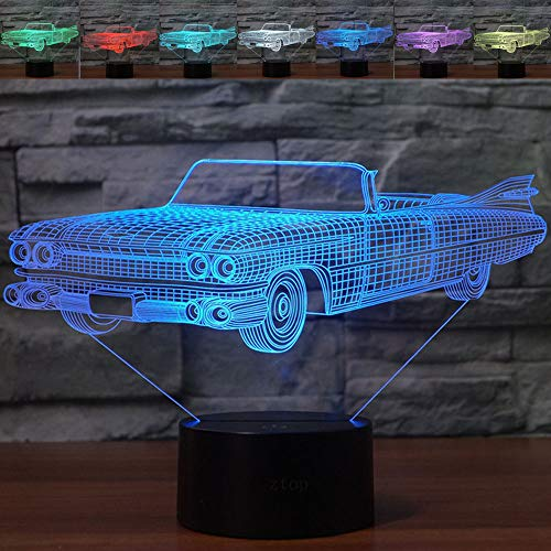 mp,Abstractive Optical Illusion Night Light,7 Color Change,Touch Switch USB Powered,Birthday Christmas Cool Gift for Child ()