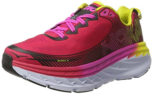 HOKA ONE ONE Bondi 5 Virtual Pink/Blazing Yellow Women's Running Shoes (6.5)