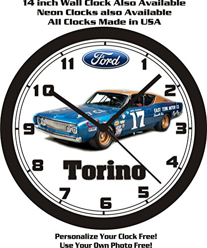1968 FORD TORINO STOCK CAR-NASCAR WALL CLOCK-FREE USA SHIP! (Torino Stock)