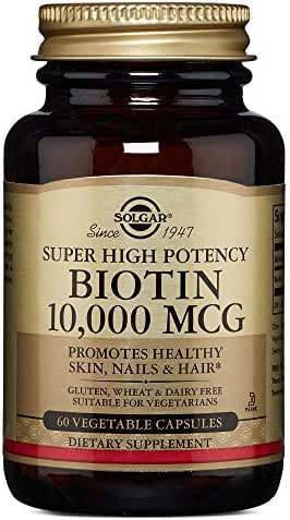 Solgar – Biotin 10,000 mcg, 60 Vegetable Capsules