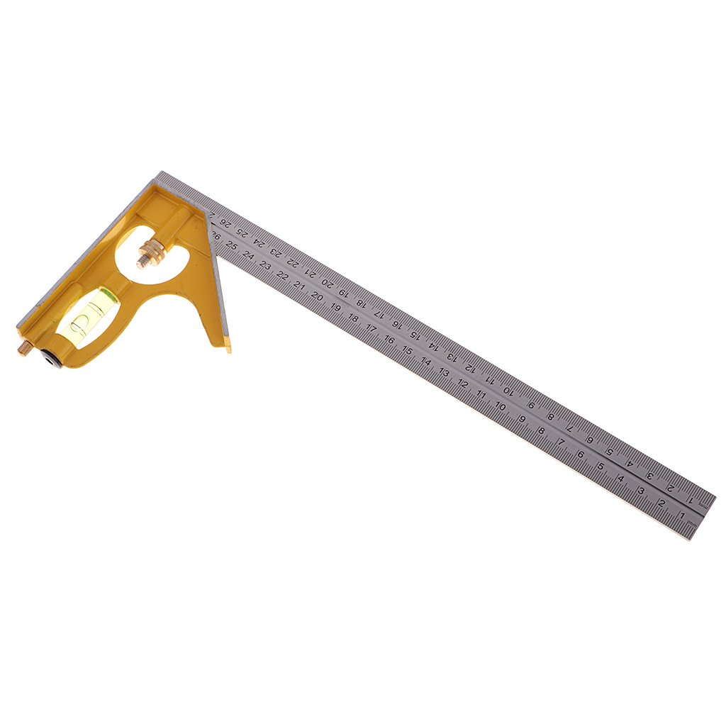 Dovewill 12'' 300mm Adjustable Engineers Combination Try Combination Square Set Right Angle Ruler Measurement Tools