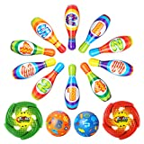 Kids Bowling Set, Geyiie Foam Bowling Game Educational Toys for Toddlers To Early Development Sport,Indoor Toys