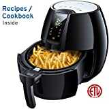 FrenchMay Air Fryer - 3.7Qt, 1500W - Comes with Recipes & CookBook - Touch Screen Control - Dishwasher Safe - Auto Shut off & Timer