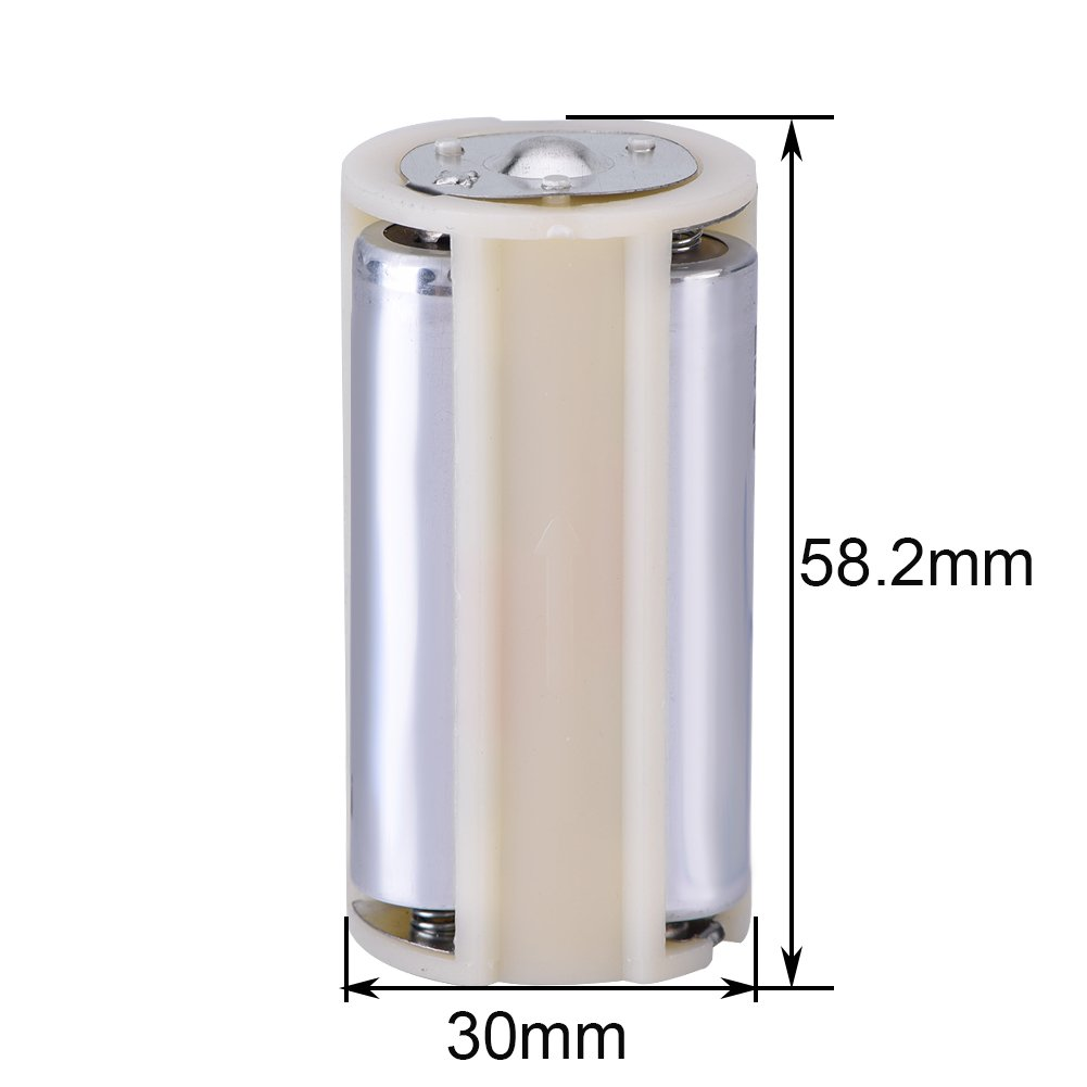 3 AA To 1 D Size Series Connection Adapter Converter Battery Holder Case Box Easy to Carry 10 Pcs Battery Converter
