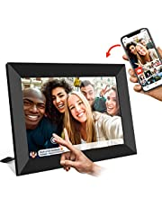 AILRINNI Digital Photo Frame WiFi - 8 Inch Smart Cloud Digital Picture Frame with HD IPS Touch Screen, Family Photo Frame Auto Rotate/View and Share Photos via App (Black)