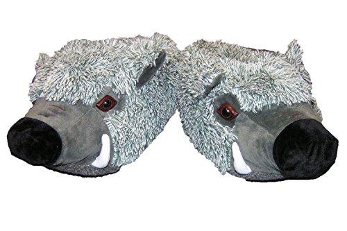 Plüsch Hausschuhe Wildschwein Sau witzig Tierhausschuhe 41-46