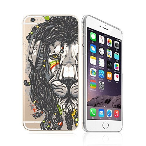 IPhone 6/ 6s , DECO FAIRY Ultra Slim Translucent Silicone Clear Case Gel Cover for Apple - Martyr Lion