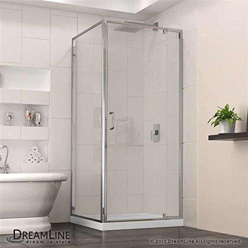 "DreamLine Flex 36""W x 36""D x 74-3/4""H Frameless Shower Enclo"