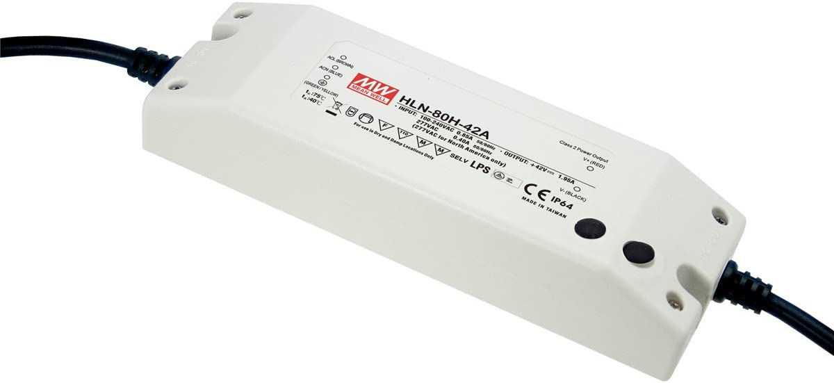 MW Mean Well HLN-80H-42B 42V 1.95A 81.9W Single Output LED Switching Power Supply with PFC