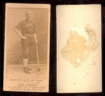 1887 Old Judge N172 Regular Baseball Card 333 P L Murphy Of The