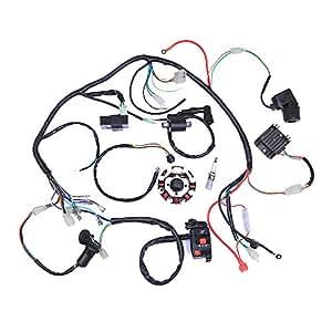 amazon plete electrics atv quad 200 250cc wiring harness Chinese Scooter CDI wiring harnesses