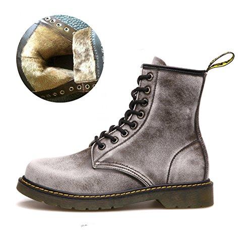 Scarpe casual maschile vestito alpinismo autunno all'aperto francesina stivali slip on marrone-nero-H Lunghezza piede=38.5EU