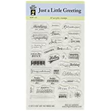 Hot Off The Press Acrylic Stamps 3-Inchx5-Inch Sheet-Just A Little Greeting