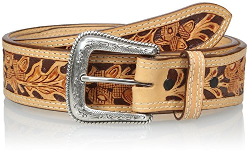 Nocona Men's Tan Mexican Acorn Embose, Natural, - Nocona Belt Brown