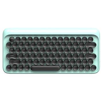 BOHENG Teclado, Punto Teclado mecánico Bluetooth, Teclado Complejo inalámbrico para iPad Tablet Apple Mac, 79 Teclas, máquina de Escribir contraluz,Blue: ...