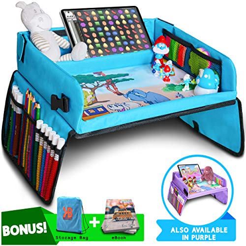 Kids Travel Tray, Car Seat Tray for Toddler + Free Bag & E-Book - Keeps Children Entertained (Accessories Trunki)