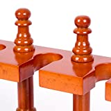 Solid Wood Wooden Smoking Pipe Stand Rack Holder
