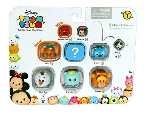 - Disney Tsum Tsum Series 1 Sebastian, Minnie, Goofy, Gus, Mystery Character, Stitch, Olaf, Dumbo, Tigger 1