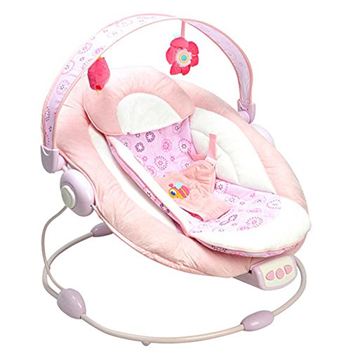 Binglinghua Bright Starts Automatic Baby Vibrating Chair Musical Rocking Chair Electric Recliner Cradling Baby Bouncer Swing (pink)