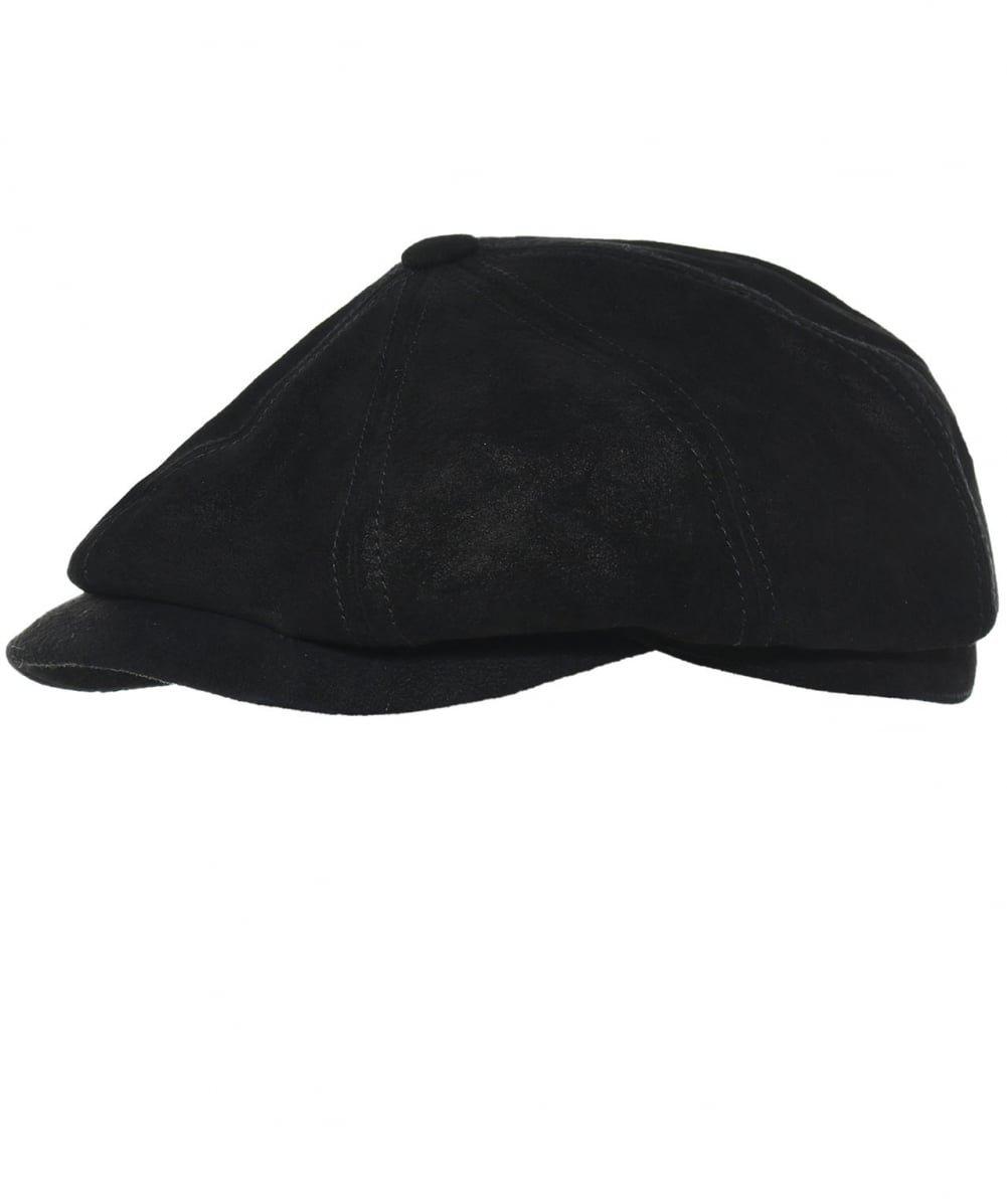 Stetson Men's Leather Hatteras Cap XXL Black