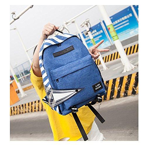Les sac à femmes loisirs léger sac tissu dos de étudiant féminin à à Blue sac sac imperméable mode oxford voyage bandoulière dos et rwrpX6UqS