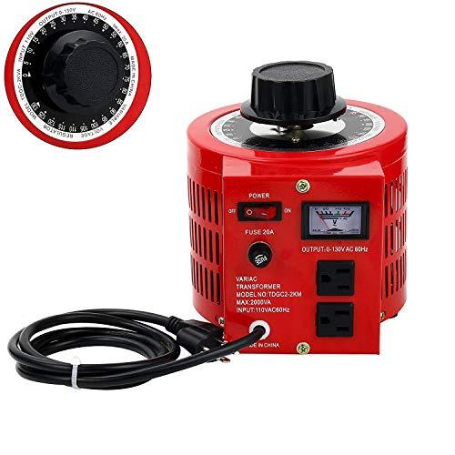 Beleeb 20 Amp AC Variable Voltage Regulator Transformer, 2000VA Max, 0~130 Volt Output ()