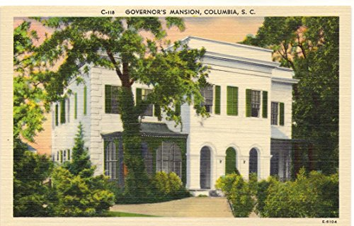 1940s Vintage Postcard - Governor's Mansion - Columbia South Carolina