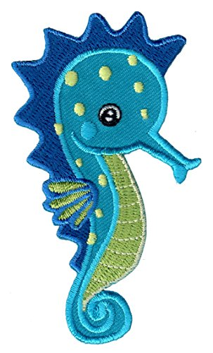(PatchMommy Iron On Patch, Seahorse - Appliques for Kids)