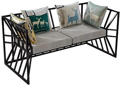 JINPENGRAN Living Room Sofa - Sofa - Simple Iron Sofa - Cafe Hotel Furniture - Fashion Business Sofa,Triple