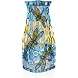 Modgy Collapsible and Expandable Plastic Vase (Tiffany - Dragonfly)