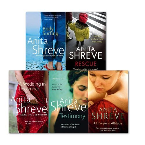 Anita Shreve Collection 5 Books Set, (Change in Altitude, Rescue, Body Surfing, A Wedding in December, Testimony) pdf epub