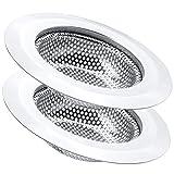 2 Pcs Kitchen Sink Strainer, Stainless Steel Drain