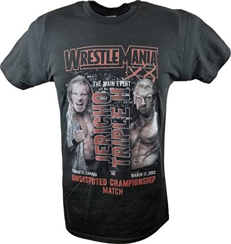 Wrestlemania 18 X 8 WWE X8 Triple H Vs Jericho Undisputed Championship Match T-Shirt-XL by Freeze