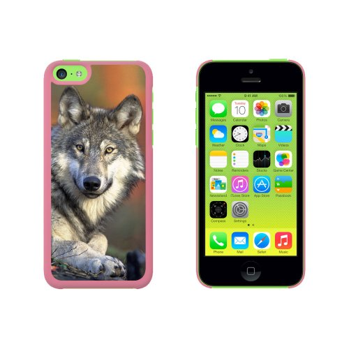 GRAY WOLF mit Fall, Snap on Hard Protective Case for Apple Iphone 5°C, Rosa