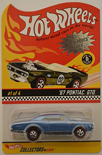 HWCA '67 Pontiac GTO Light Blue #1 of 4 Hot Wheels Redline Tires HW Neo-Classics Series 1:64 Scale Collectible Die Cast Model Car. Only 12500 Made - One Light Classic Neo