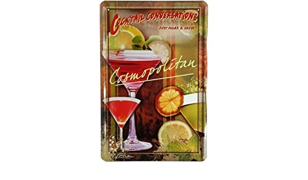 Cartel de chapa Placa Cocktail Cosmopolitan 20 x 30 cm ...
