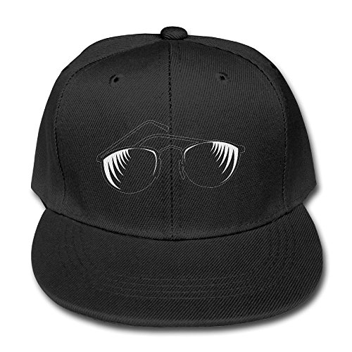YSDISJE Black Sunglass Logo Kid Hip Hop Baseball Cap Toddler Snapback Hat For Boys Girls Humorous Adjustable Cool Trucker Plain Flat Hats For Dance,Neo-Jazz,Street - Orange Fish With Sunglasses Logo