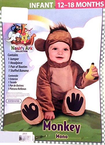 Noahs Ark Monkey Costume 4 Piece Set - Infant 12-18 months]()