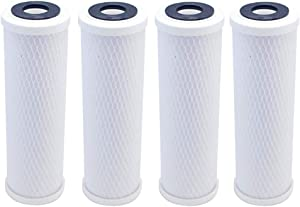 Set of 4 Compatible for Water Filter GE GXWH04F, GXWH20F, GXWH20S & GXRM10 Multi-Pack, Carbon Block Replacement Cartridge by IPW Industries Inc.