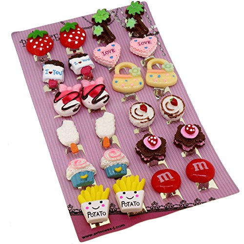 Big Size Generic Cute Lovely Cute Design Fashion Clip-on Earrings, Pack of 12 (Clip Earrings Fashion Jewelry)