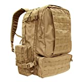 Condor 3 Day Assault Pack (Tan, 3038-Cubic Inch), Outdoor Stuffs