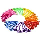 Nextnol 35 PCS Color plastic duckbill clip barrettes,DIY Accessories hair pins,Color plastic hairpin,Clips salon hair clips,Alligator clips barrettes,Hair clips for women