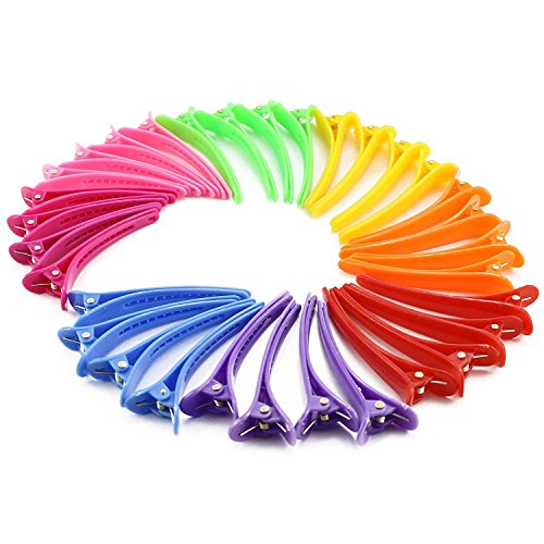 Nextnol 35 PCS Color plastic duckbill clip barrettes,DIY Accessories hair pins,Color plastic hairpin,Clips salon hair clips,Alligator clips barrettes,Hair clips for women ()