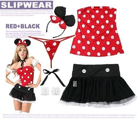 GQ Disfraz de Halloween chica sexy gato Mickey Minnie Bar trajes ...