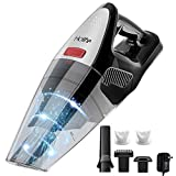 HOLIFE Handheld Vacuum, 8KPA Cordless Hand Vacuum Cleaner Rechargeable Hand Vac, 22.2V Lithium 100W Stronger Motor Rechargeable Lightweight Wet Dry Vacuum for Home Pet Hair Car Cleaning (Black)