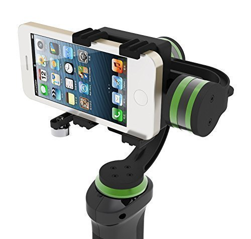 LanParte HHG-01 3-Axis Motorized Handheld Gimbal Active Stabilizer for GoPro iPhone 6S Plus Smartphones Video Cameras GoPro Clamp Included